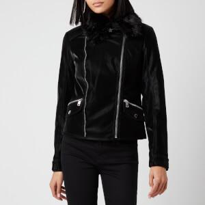 Guess Women's Cantara Biker Jacket - Jet Black