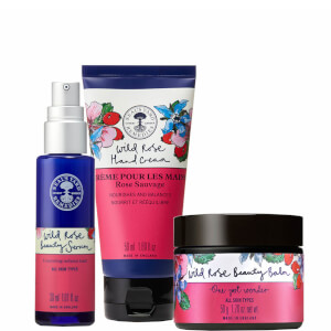 Neal's Yard Remedies Wild Rose Beauty Serum, Wild Rose Beauty Balm and Wild Rose Hand Cream Trio