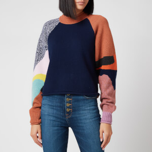 See by Chloe Women's Multi Block Colour Knit Jumper - Multi