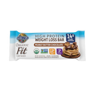 Garden of Life Organic Fit Plant-Based Bar - Peanut Butter Chocolate - 12 Bars