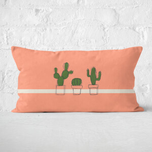 Cute Cactus Plants Rectangular Cushion