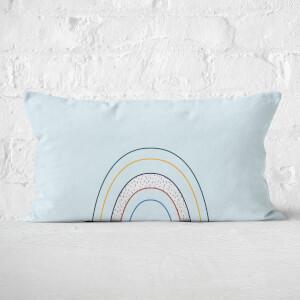 Abstract Rainbow Rectangular Cushion