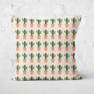 Spiky Cactus Repeat Square Cushion