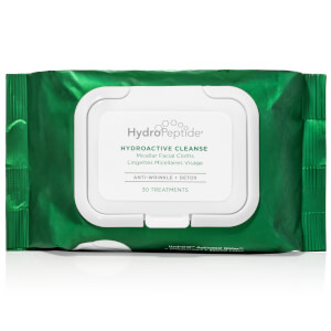 HydroPeptide HydroActive Cleanse Micellar Facial Cloths (30 Wipes)