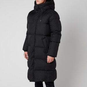 Mackage Men's Elio Light Down Hooded Long Coat - Black