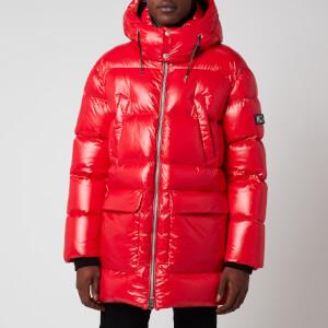 Mackage Men's Kendrick Medium Down Hooded Long Coat - Red