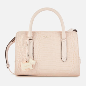 Radley Women's Liverpool St Croc Mini Small Zip Around Multiway - Tulip