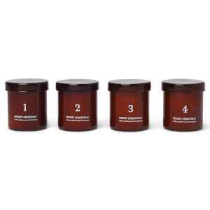 Ferm Living Scented Advent Candles - Set of 4 - Red