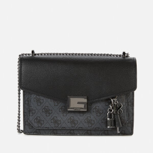 Guess Women's Valy Convertible Cross Body Bag - Coal