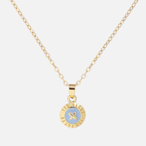 Ted Baker Women's Elvina: Enamel Mini Button Pendant - Gold/Light Blue