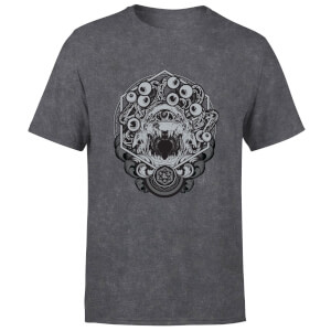 T-Shirt Dungeons & Dragons Beholder - Nero Acid Wash - Unisex