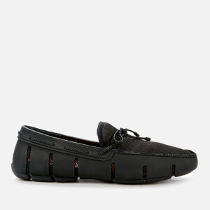 SWIMS Men's Braided Lace Loafers - Black