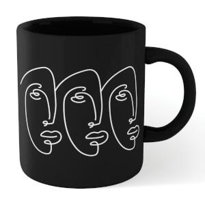 Three Faces Mug - Black