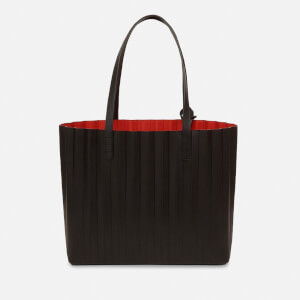 Mansur Gavriel Women's Pleated Tote Bag - Black/Flamma