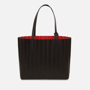 Mansur Gavriel Women's Pleated Tote Bag - Black/Flamma