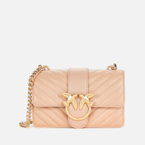 Pinko Women's Love Mini Icon V Quilt Bag - Powder Pink