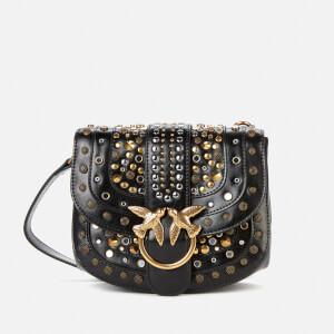 Pinko Women's Love Go Round Soft New Studs Bag - Black