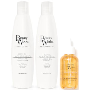 Beauty Works Pearl Nourishing Argan Oil Trio