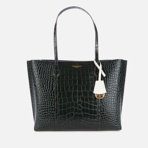 Tory Burch Women's Perry Embossed Small Triple-Compartment Tote Bag - Deep Kelp