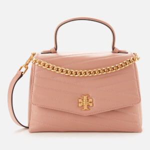 Tory Burch Women's Kira Chevron Top-Handle Satchel - Pink Moon/Rolled Brass