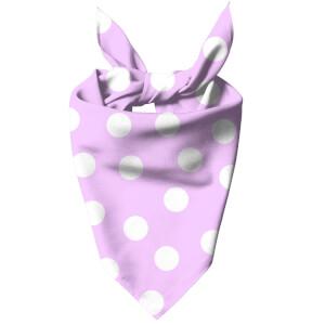 Light Pink Polka Dots Dog Bandana