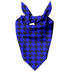 Blue Dogtooth Dog Bandana