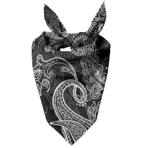 Monochrome Layered Paisley Dog Bandana