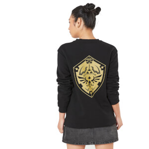 Legend Of Zelda Master Sword And Hylian Shield Unisex Sweatshirt - Black