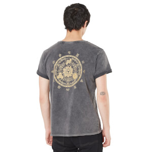 Legend Of Zelda Mark Of The Goddesses Tee Unisex T-Shirt - Black Acid Wash