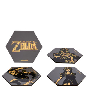Legend Of Zelda Hexagonal Coaster Set