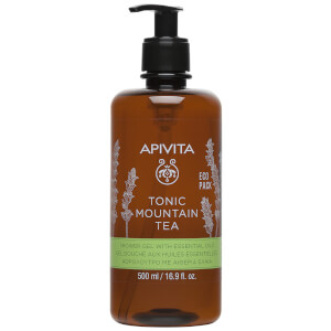 APIVITA Tonic Mountain Tea Shower Gel with Essential Oils 16.9 fl.oz