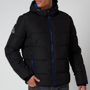 Superdry Men's Sports Puffer Jacket - Black