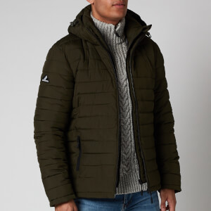 Superdry Men's Hooded Fuji Jacket - Army Khaki