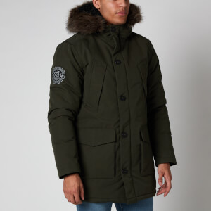 Superdry Men's Everest Parka Jacket - Army Khaki
