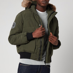 Superdry Men's Everest Quilted Bomber Jacket - Khaki