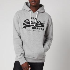 Superdry Men's Vintage Label Embroidery Hoodie - Grey Marl
