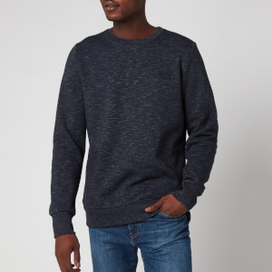 Superdry Men's Orange Label Crewneck Sweatshirt - Eclipse Navy Feeder
