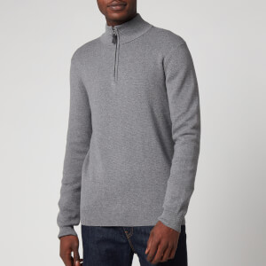 Superdry Men's Orange Label Henley Jumper - Jersey Grey Marl