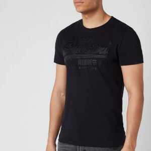 Superdry Men's Vintage Logo Embroidery T-Shirt - Black