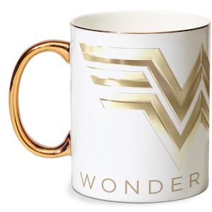 Wonder Woman Bone China Gold Handle Mug