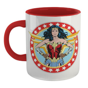 Wonder Woman Save The Day Mug - White/Red
