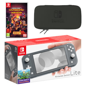 Nintendo Switch Lite (Grey) Minecraft Dungeons - Hero Edition Pack