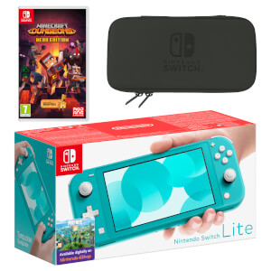 Nintendo Switch Lite (Turquoise) Minecraft Dungeons - Hero Edition Pack
