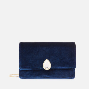 Ted Baker Women's Emeldah Teardrop Crystal Velvet Evening Bag - Navy