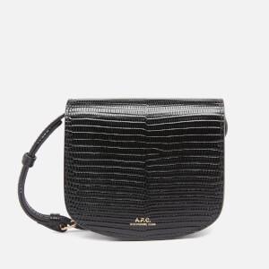 A.P.C. Women's Mini Dina Lizard Bag - Black