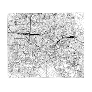 Munich City Map Fleece Blanket