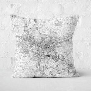 Nuremberg City Map Square Cushion