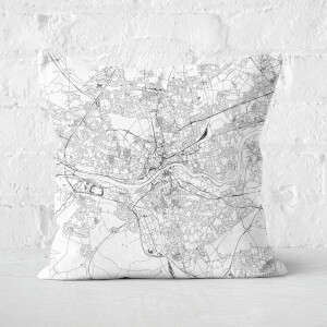 Newcastle City Map Square Cushion