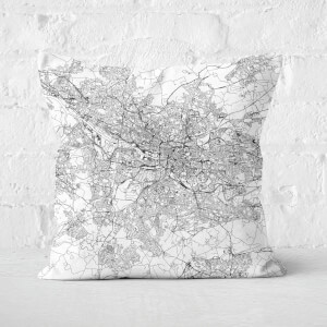 Glasgow City Map Square Cushion