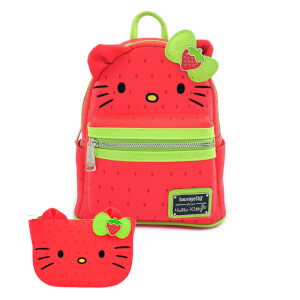 Loungefly Sanrio Hello Kitty Strawberry Mini Backpack and Wallet Set